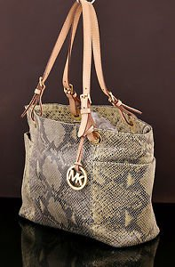 MICHAEL KORS Python Embossed Leather Tote Shoulder bag