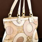 COACH F19042 PIECED PATCHWORK EAST WEST TOTE BAG