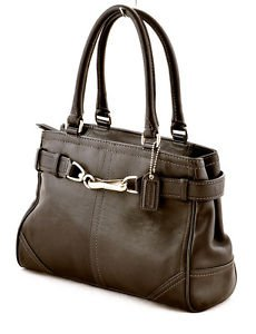 Coach F11199 Hampton Leather Carryall Satchel Shoulder Bag