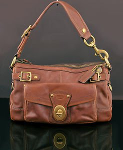COACH 11127 65th anniversary Legacy Stripe Lining Whiskey Purse Bag Handbag