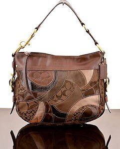 COACH 13515 ZOE SIGNATURE MOSAIC PATCHWORK SHOULDER BAG PURSE