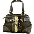 Coach 10262 Python striped satchel shoulder bag