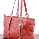 COACH F12343 RED LEATHER GALLERY EAST WEST TOTE SHOULDER BAG