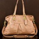 COACH F15513 Ashley  Leather Carryall shoulder bag metallic copper