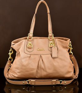 COACH F15513 Ashley  Leather Carryall shoulder bag metallic copper