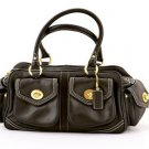 Coach L04Q-1445 Leather Small Pocket Satchel Handbag purse