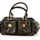 Coach L04Q-1445 Leather Small Pocket Satchel Handbag purse