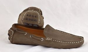 Driving shoes Dark Beige suede loafers slip on shoes size 11M