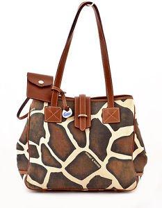 Dooney & Bourke K9096140 Giraffe Print Shoulder Bag Large shopper tote