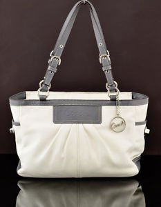 Coach F13759 East West Gallery Tote pleated leather shoulder bag