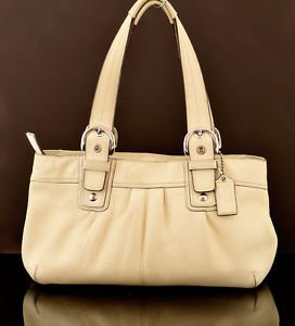COACH F13732 SOHO SHOULDER BAG TOTE PEBBLE LEATHER
