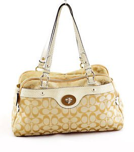 Coach F16542 Penelope Signature Satchel shoulder Bag Purse Handbag