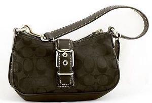 COACH BAG Small Demi Bag Hobo Purse HANDBAG Black E3U-6362