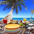 DINNERWARE Ceramic dinner plates and side plates seven lovely colors!