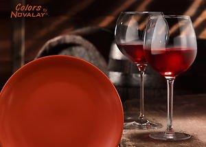 DINNERWARE FOUR matte ceramic dinner plates, multi-color kitchen plates