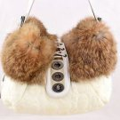 COACH SHOULDER BAG brown fur G04K-9443