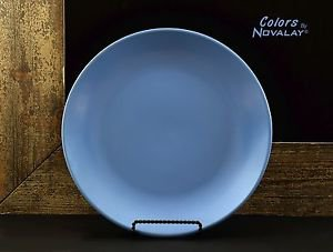 DINNERWARE 4 Dinner plates MATTE blue ceramic stoneware kitchen plates