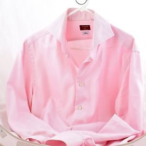 MANS DRESSED SHIRT MARCELLO MILANO SLIM PINK SIZE 17.5