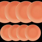 DINNERWARE 4 ceramic matte Dinner plates Salmon Pink with side plate