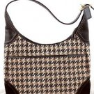COACH F10279 Hobo Houndstooth tricot suede shoulder bag