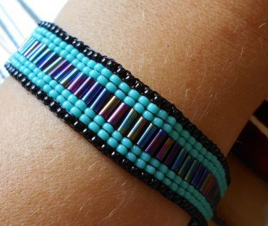 Cool blue summer bracelet, handmade bracelet, bracelets
