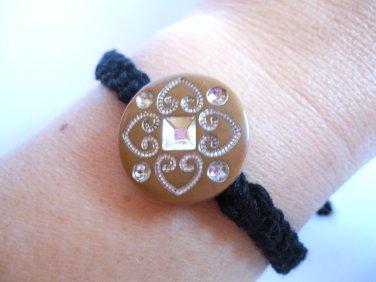 Boho friendship bracelet, beaded friendship bracelet in black