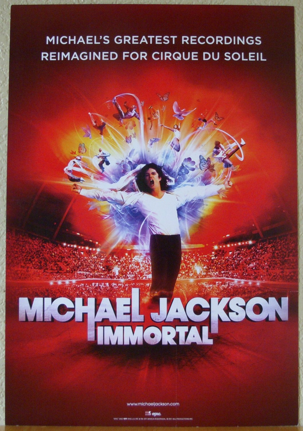 "MICHAEL JACKSON Immortal Cirque Du Soleil 2011 US 12"" X 17"" 2 Sided Promotional Poster"