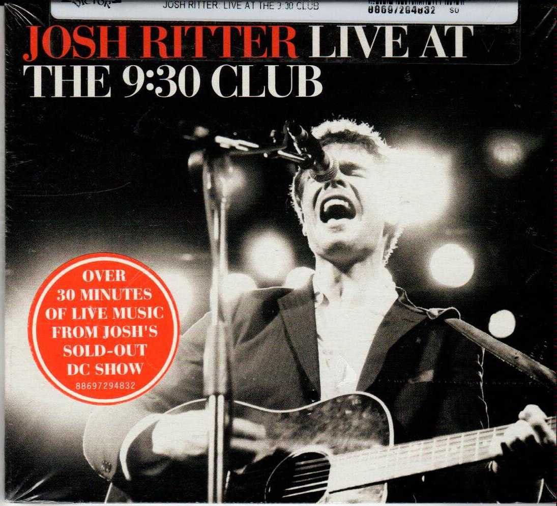 JOSH RITTER Live At The 9:30 Club 2008 US 8 Track CD Album
