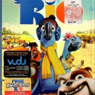 RIO Blu-Ray + DVD + Gigital Copy 2011 US DVD Blu-Ray With Slipcover