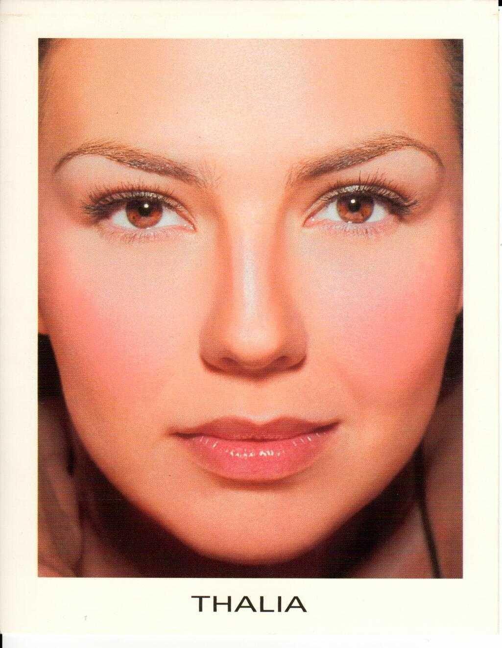 """THALIA Entre El Mar Y Una Estrella 2000 US 5"""" X 7"""" Official Two Sided Postcard"""