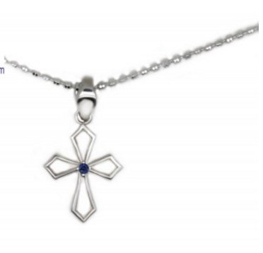 Blue-sapphire-Pendant-Silver