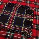 "Highland Wool Blend Tartan Kilt Flyplaid Shawl 48""X48"""