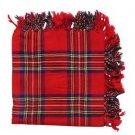 "Handmade Royal Stewart Tartan Highland Kilt Flyplaid Shawl 48""X48"""