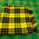 "New Handmade McLeod of Lewis Tartan Highland Kilt Flyplaid Shawl 48""X48"""