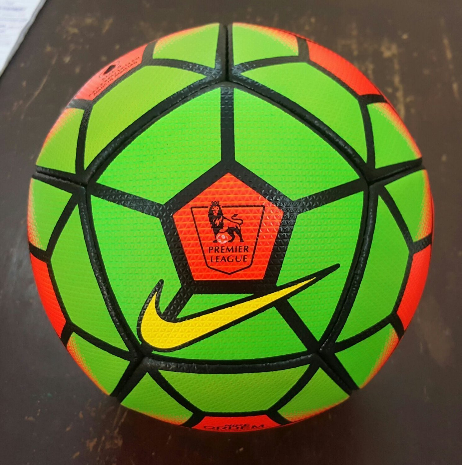 Replica Nike Ordem Premier League 15/16 Official Match Ball (Orange & Green)