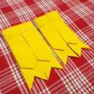 New Kilt Hose Flashes Yellow Tartan Kilt Flashes Garters