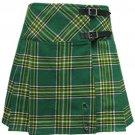 Ladies Irish Heritage Tartan Scottish Mini Billie Kilt Mod Skirt 34w