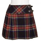 Black Stewart Women's Tartan Kilt Size 34 16oz - 8 yards