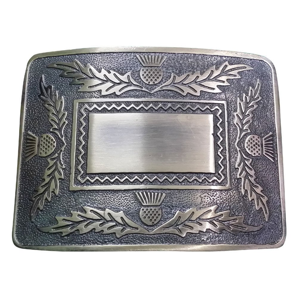 DE Original Silver Chrome Scottish Steel Made KILT BELT BUCKLE for leather belt