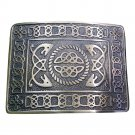 KILT BELT BUCKLE Silver Chrome Scottish Steel Made DE Original for leather belt