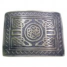 DE Original  Scottish Steel Made KILT BELT BUCKLE Silver Chrome for leather belt