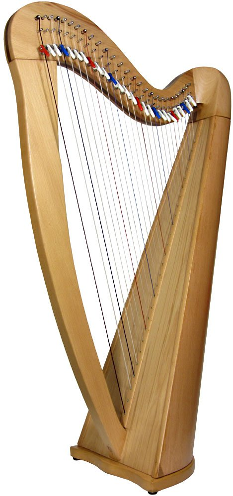 EMS Heritage 27 String Harp With Semitone Levers In Natural Ash Finish