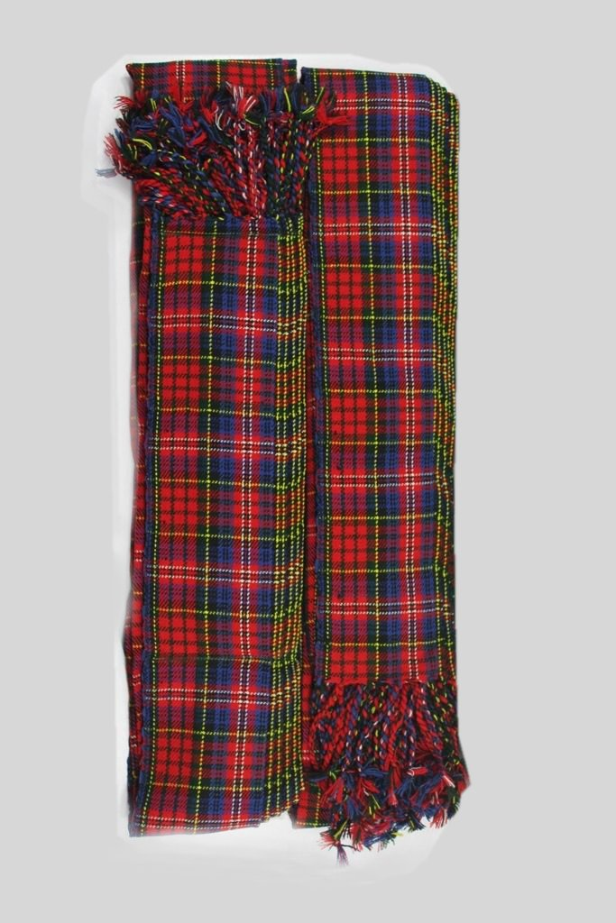 Mcpherson Tartan Piper Plaid Pleated. 8oz.