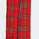 Royal Stewart Tartan Piper Plaid Pleated. 8oz.