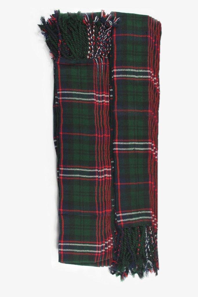 Scottish National Tartan Piper Plaid Pleated. 8oz.