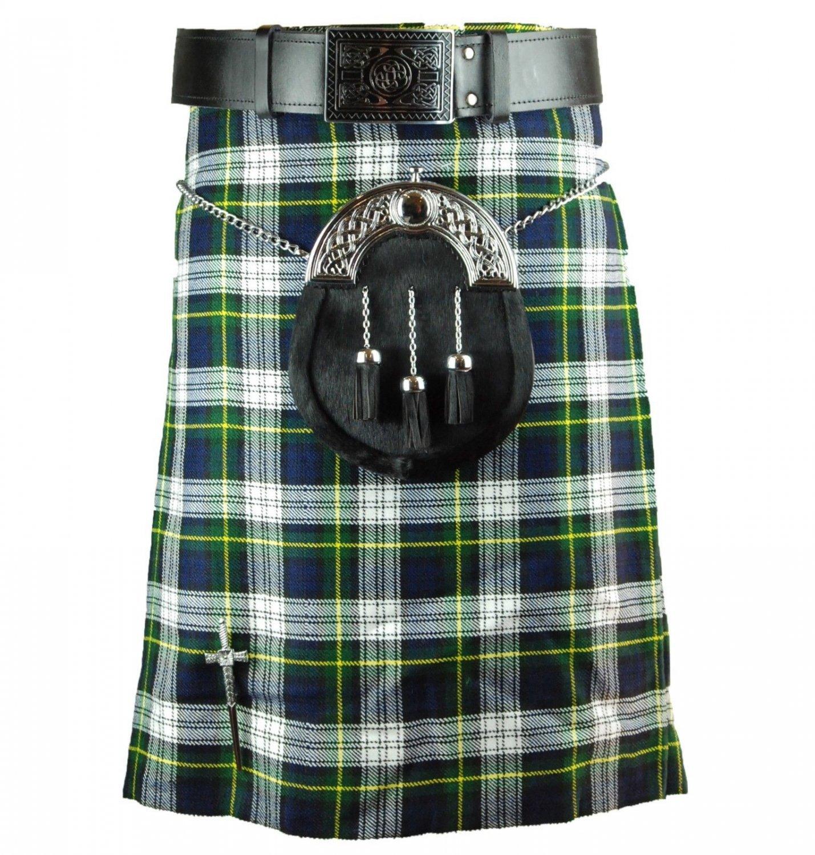 40 Inches Traditional Highland Scottish Dress Gorden Tartan kilt-Skirt