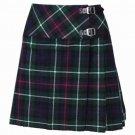 New Ladies MacKenzie Tartan Scottish Mini Billie Kilt Mod Skirt Size 38