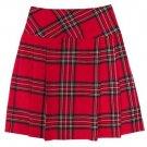 Size 28 Royal Stewart Ladies tartan kilt Ladies Utility kilt