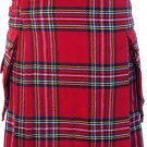Waist 38 Traditional Highland Scottish Royal Stewart Tartan kilt-Skirt with Cargo Pockets