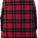 DE Waist 46 Traditional Wallace Tartan Highland Scottish Kilt-Skirt